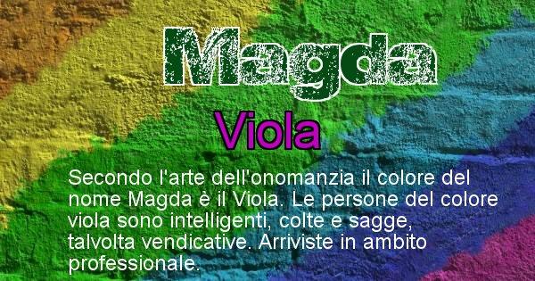 Magda - Colore corrispondente al nome Magda