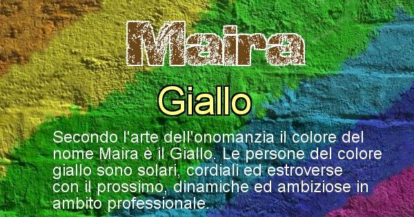 Maira - Colore corrispondente al nome Maira
