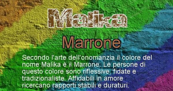 Malika - Colore corrispondente al nome Malika