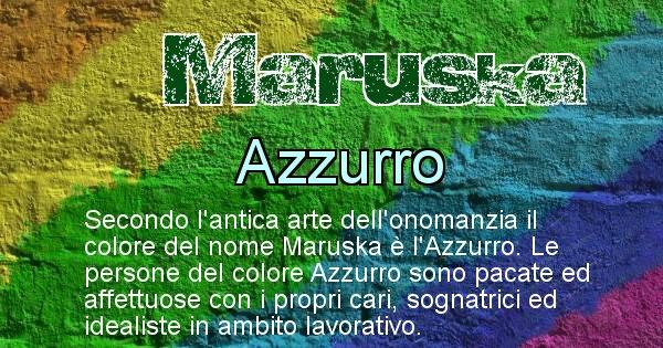 Maruska - Colore corrispondente al nome Maruska