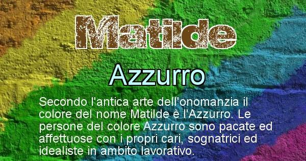Matilde - Colore corrispondente al nome Matilde
