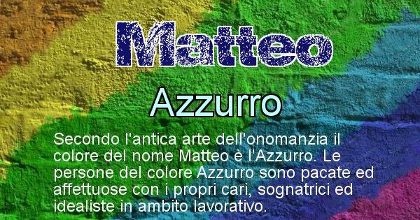 Matteo - Colore corrispondente al nome Matteo