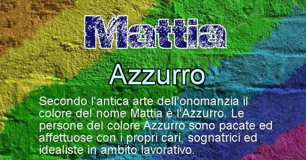 Mattia - Colore corrispondente al nome Mattia