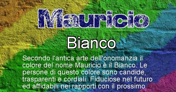 Mauricio - Colore corrispondente al nome Mauricio