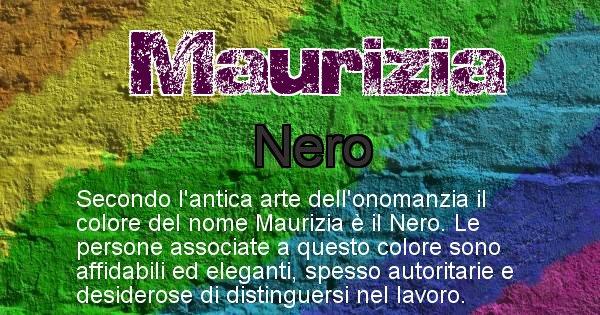 Maurizia - Colore corrispondente al nome Maurizia