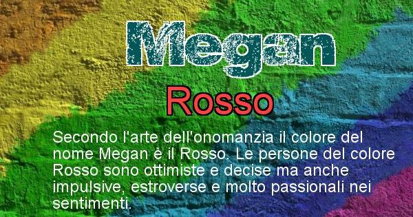 Megan - Colore corrispondente al nome Megan