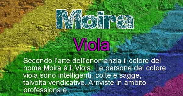 Moira - Colore corrispondente al nome Moira