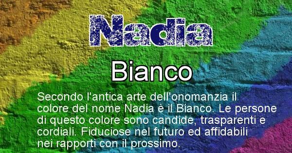 Nadia - Colore corrispondente al nome Nadia