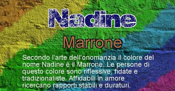 Nadine - Colore corrispondente al nome Nadine