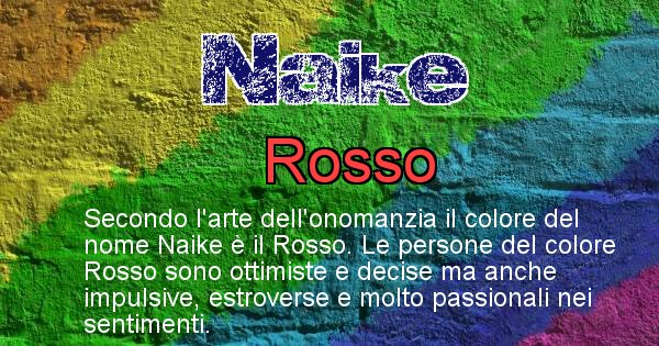 Naike - Colore corrispondente al nome Naike