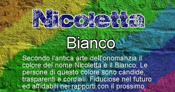 Nicoletta - Colore corrispondente al nome Nicoletta