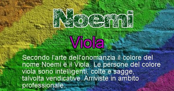 Noemi - Colore corrispondente al nome Noemi