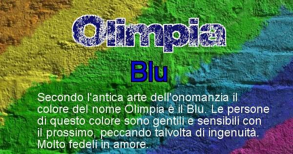 Olimpia - Colore corrispondente al nome Olimpia