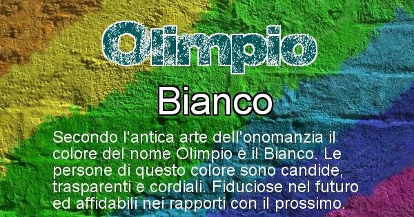 Olimpio - Colore corrispondente al nome Olimpio