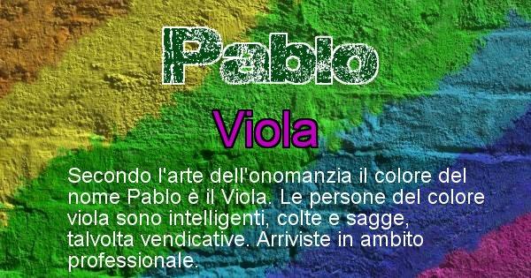 Pablo - Colore corrispondente al nome Pablo