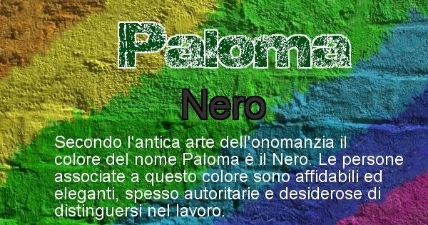 Paloma - Colore corrispondente al nome Paloma