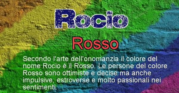 Rocio - Colore corrispondente al nome Rocio