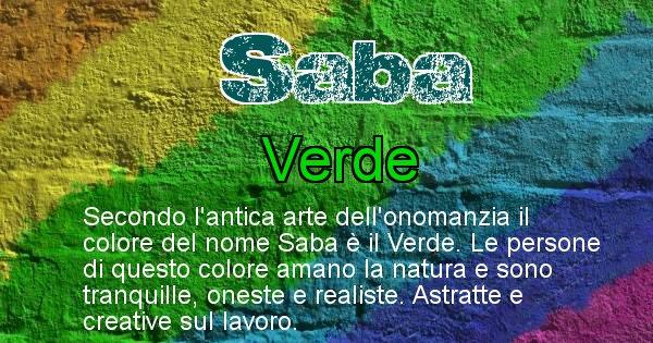 Saba - Colore corrispondente al nome Saba