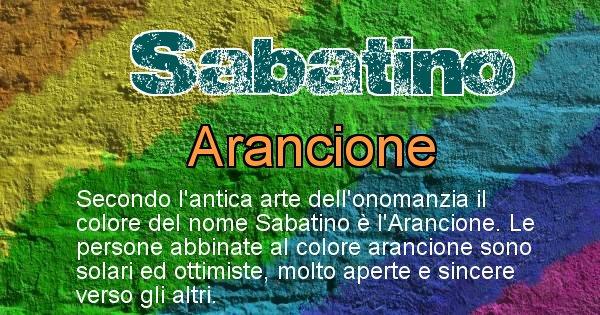 Sabatino - Colore corrispondente al nome Sabatino
