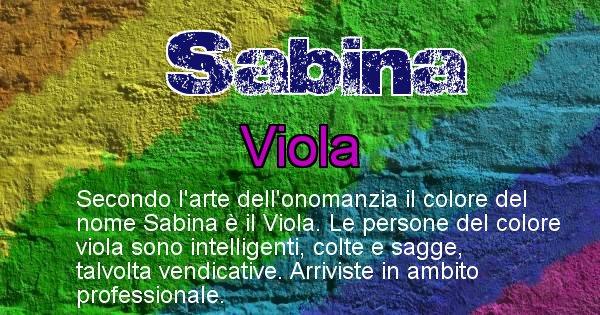 Sabina - Colore corrispondente al nome Sabina
