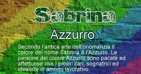 Sabrina - Colore corrispondente al nome Sabrina