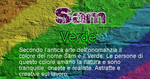Sam - Colore corrispondente al nome Sam