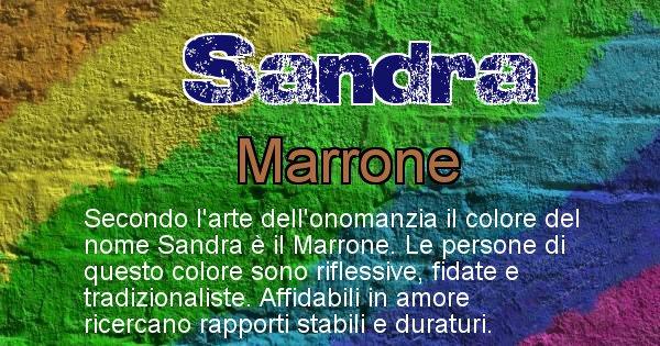 Sandra - Colore corrispondente al nome Sandra