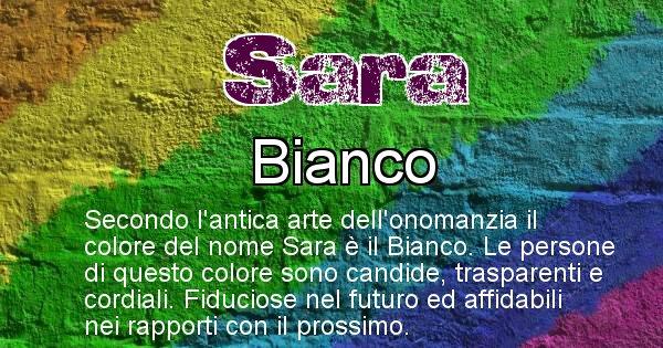 Sara - Colore corrispondente al nome Sara