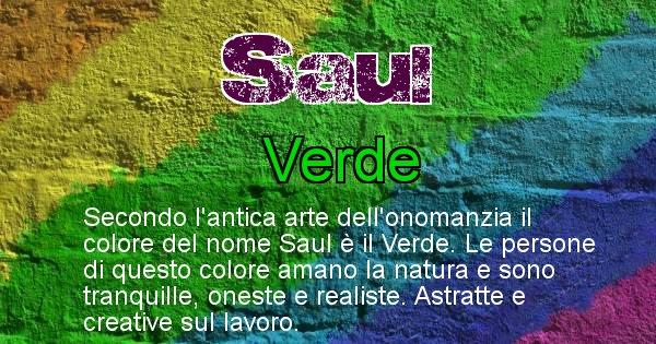 Saul - Colore corrispondente al nome Saul