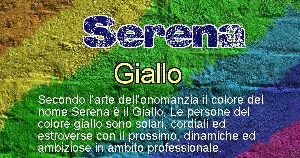 Serena - Colore corrispondente al nome Serena