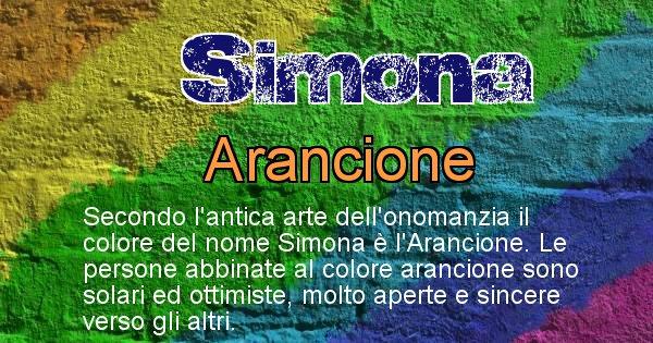 Simona - Colore corrispondente al nome Simona