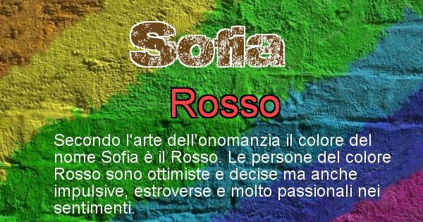 Sofia - Colore corrispondente al nome Sofia