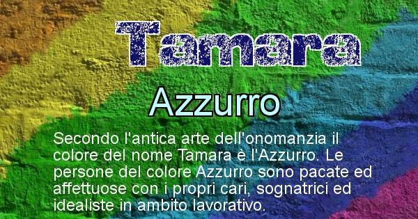 Tamara - Colore corrispondente al nome Tamara