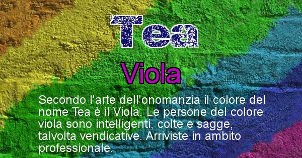 Tea - Colore corrispondente al nome Tea