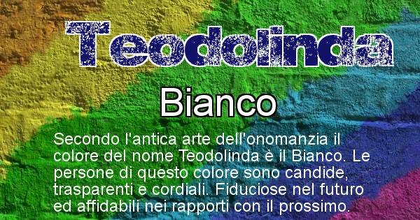 Teodolinda - Colore corrispondente al nome Teodolinda