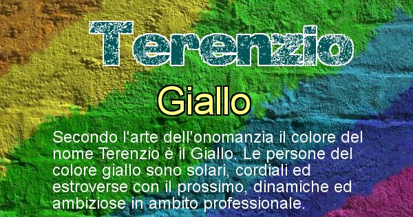 Terenzio - Colore corrispondente al nome Terenzio