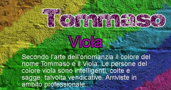Tommaso - Colore corrispondente al nome Tommaso