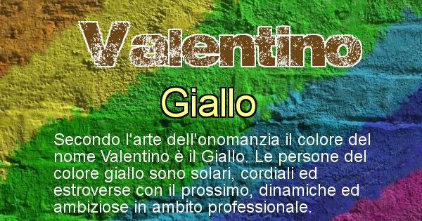 Valentino - Colore corrispondente al nome Valentino