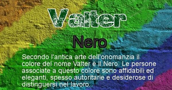 Valter - Colore corrispondente al nome Valter