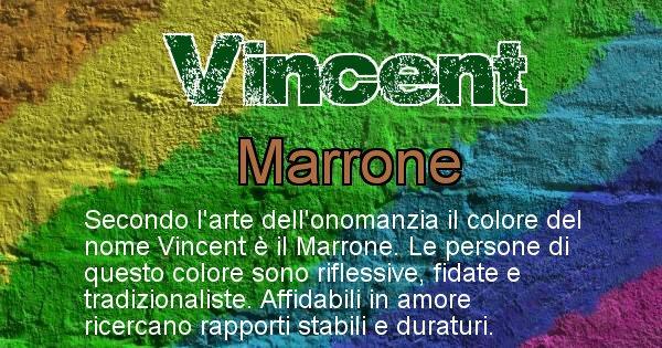 Vincent - Colore corrispondente al nome Vincent