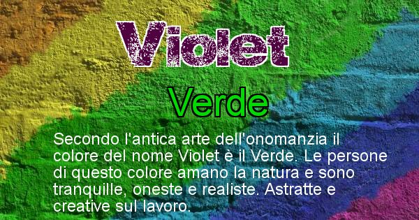 Violet - Colore corrispondente al nome Violet