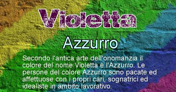 Violetta - Colore corrispondente al nome Violetta