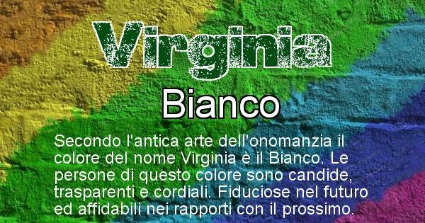 Virginia - Colore corrispondente al nome Virginia