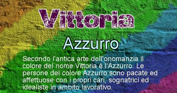 Vittoria - Colore corrispondente al nome Vittoria