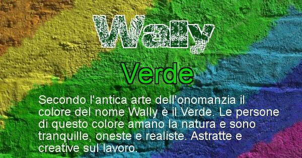 Wally - Colore corrispondente al nome Wally