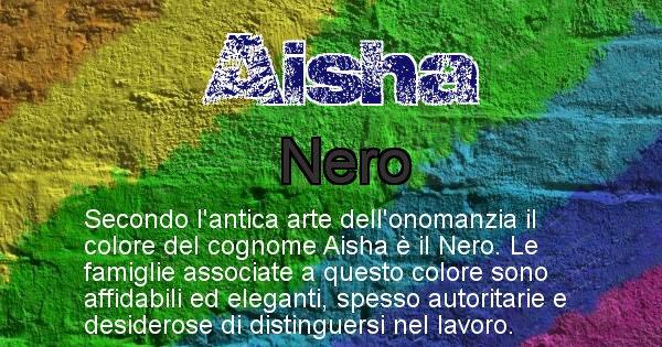 Aisha - Scopri il colore associato al Cognome Aisha