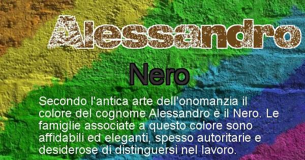 Alessandro - Scopri il colore associato al Cognome Alessandro