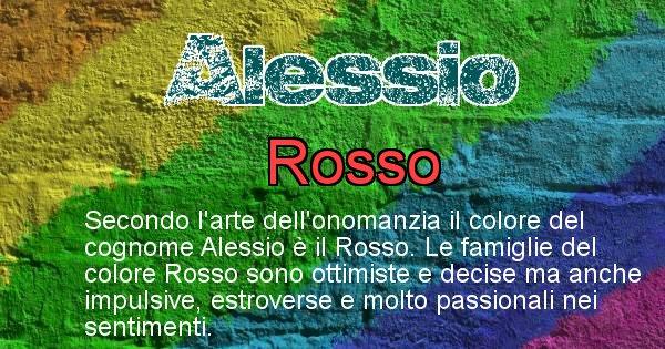 Alessio - Scopri il colore associato al Cognome Alessio