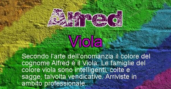 Alfred - Scopri il colore associato al Cognome Alfred