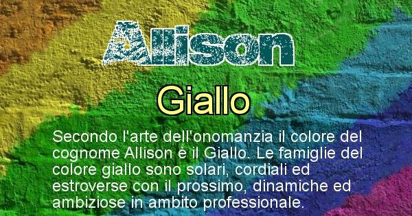 Allison - Scopri il colore associato al Cognome Allison